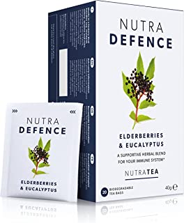 NUTRADEFENCE - Cold and Flu Tea   Immunity Tea - Supports & Boosts The Immune System – Includes Elderberry, Eucalyptus and...