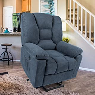 Esright Power Lift Microfiber Electric Recliner Chair with Heated Vibration Massage Sofa..