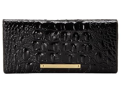 Brahmin Melbourne Ady Wallet (Black) Wallet Handbags