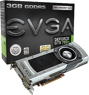 EVGA GeForce GTX 780 Ti Superclocked, 3GB, 3072MB,GDDR5 384bit, Dual-Link DVI-I, DVI-D, HDMI,DP, SLI Ready Graphics Card (03G-P4-2883-KR)