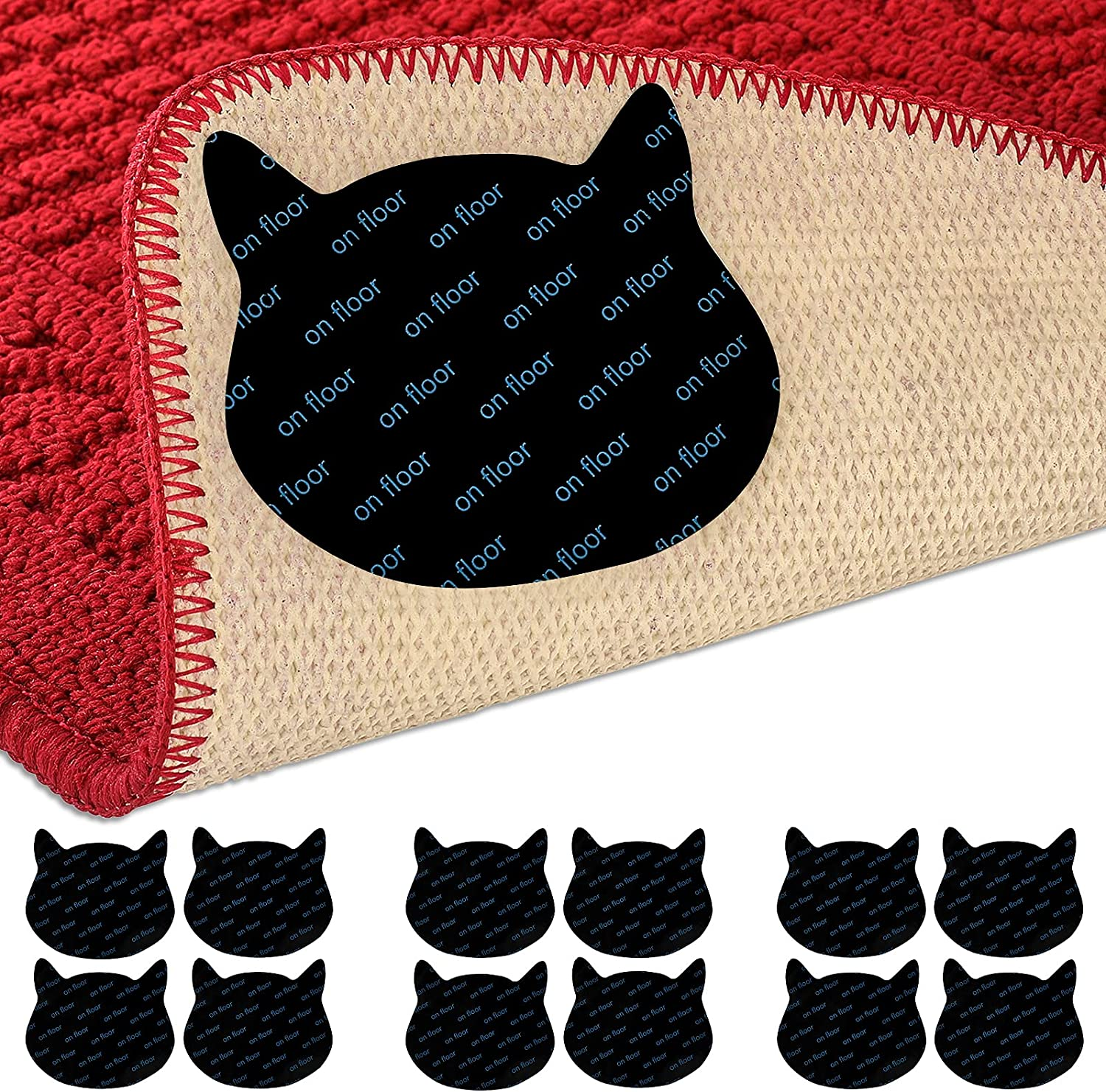 12 Pcs Cat Rug Grippers Reusable Non Carpet F Weekly update Wood for Slip Tape Safety and trust