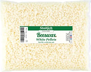 Stakich White Beeswax Pellets - Natural, Cosmetic Grade, Triple Filtered - 10 Pound (in 1 Pound Bags)