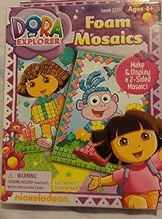 Viacom Dora The Explorer Foam Mosaics ~ Dora with Gift, Boots with Butterflies (5