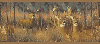 York Wallcoverings WG0346BDSMP Lake Forest Lodge White Tail Deer Wallpaper Memo Sample, 8-Inch x 10-Inch