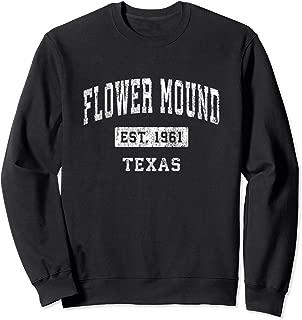 Flower Mound Texas TX Vintage Established Sports Design Sweatshirt