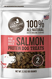 Wholesome Pride Raw Freeze Dried All Natural Healthy Dog Treats - Gluten and Grain-Free Dog Snacks