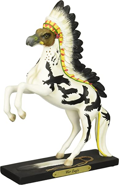 Enesco Trail Of Painted Ponies War Eagle Stone Resin Horse Figurine 10 8
