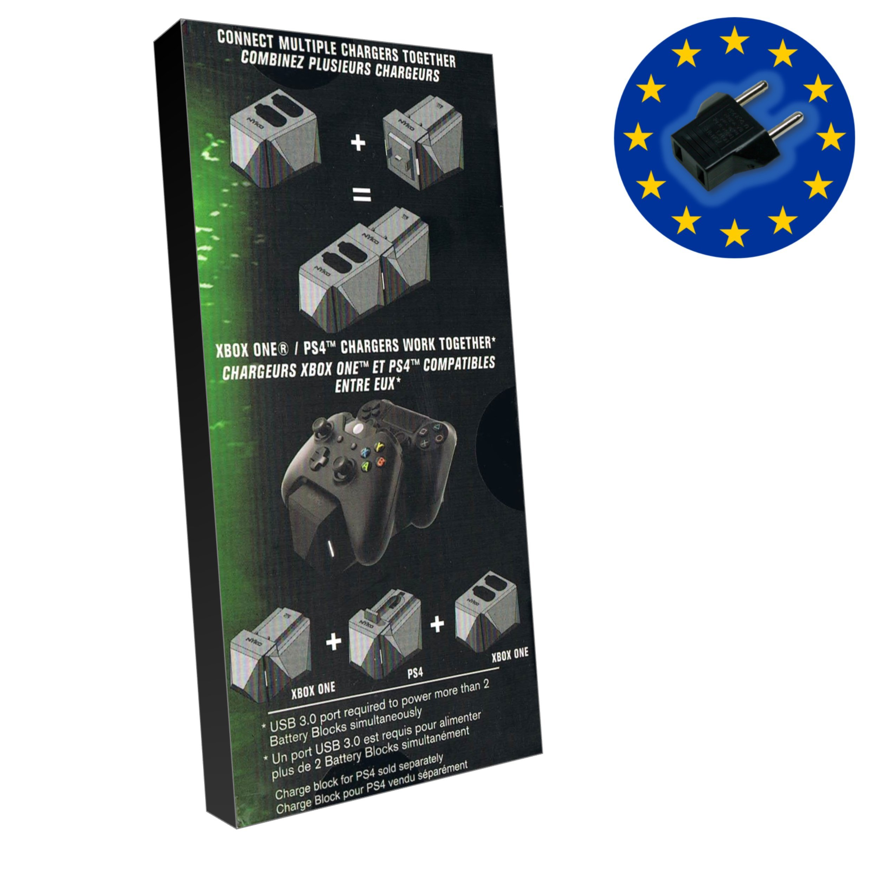 Erweiterbare Doppel-Ladestation für Nyko-Akku-Packs für Xbox One inkl. 1x 1200mAh Akku-Pack, Deutscher Stecker (Battery Block 86142): Amazon.es: Videojuegos