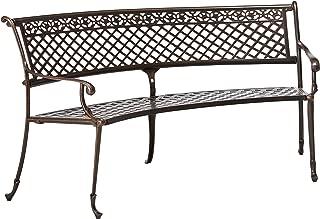 Christopher Knight Home 294966 Bainbridge Outdoor Antique Copper Cast Aluminum Bench