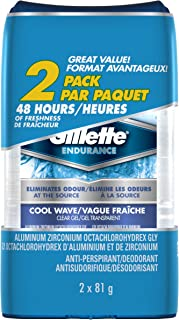 Gillette Cool Wave Clear Gel Men's Antiperspirant & Deodorant 81 g each, 2-Pack
