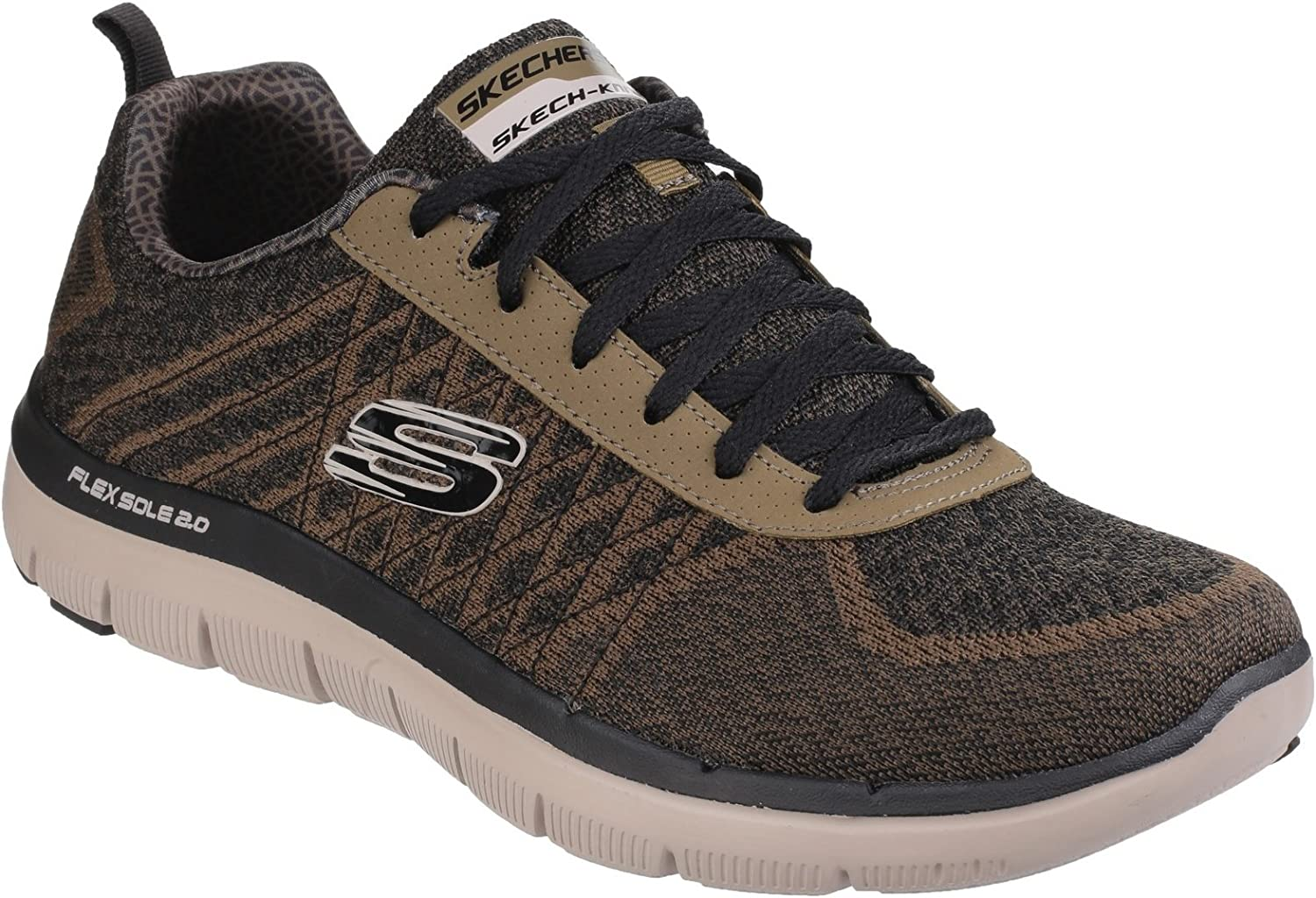 Skechers Mens Flex Advantage 2.0 golden Point Sports Trainers Sneakers