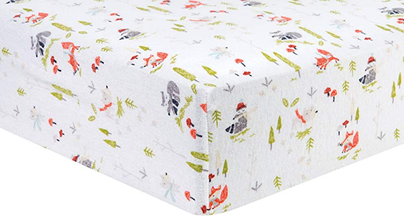 Trend Lab 100 Cotton Winter Woods Deluxe Flannel Fitted Crib Sheet