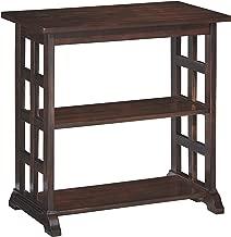 Ashley Furniture Signature Design - Braunsen Chairside End Table - 2 Shelves - Contemporary Lattice Design- Brown