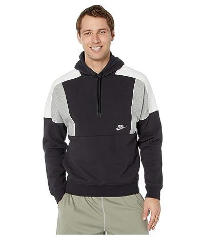 Nike NSW Hoodie Pullover Color Block (Black/Dark Grey Heather/Sail/White) Men