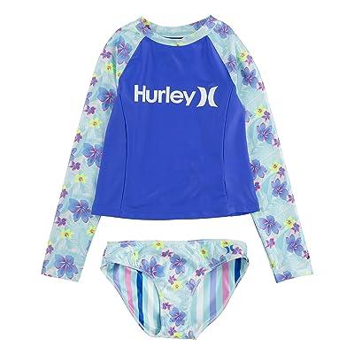 Hurley Kids UPF 50+ Rashguard and Bikini Bottoms Swimsuit Set (Big Kids)