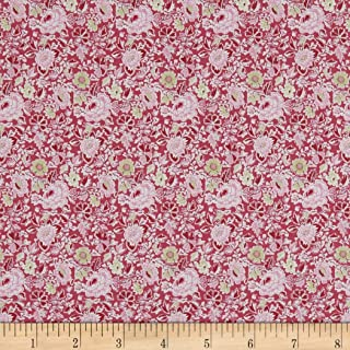 In The Beginning Fabrics Garden Delights Dotted Flowers Fabric, Pink/Navy, Fabric By The Yard