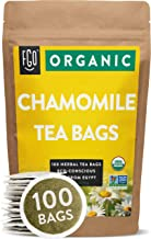 Organic Chamomile Tea Bags | 100 Tea Bags | Eco-Conscious Tea Bags in Kraft Bag | Raw..