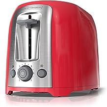 BLACK+DECKER 2-Slice Toaster, Red, TR1278RM