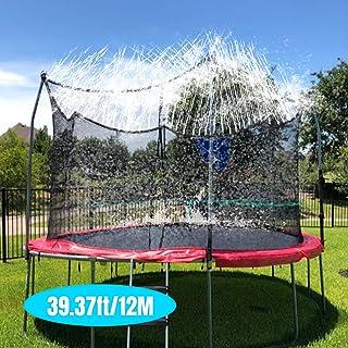 AFUNSO Trampoline Sprinkler, Outdoor Water Play Sprinklers for Kids Fun Water Park Summer Games Trampoline Accessories Yard Toys Sprinkler (39.37ft/12M)