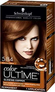 Schwarzkopf Color Ultime Hair Color Cream, 5.84 Chocolate Copper (Packaging May Vary)