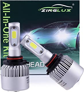ZX2 9005 H10 HB3 9145 8000LM LED High Beam Headlight Conversion Kit,Fog Driving Light,for Replacing Halogen Headlamp All-in-One Conversion Kits,COB Tech,6500K Xenon White, 1 Pair with 1 Year Warranty