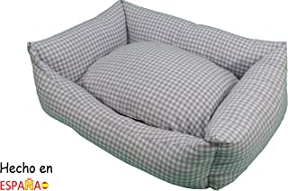 ION® Cama Cuna para Perro Y Gato Estampados Varios (Talla 1-50x40 cm Vichy Gris)