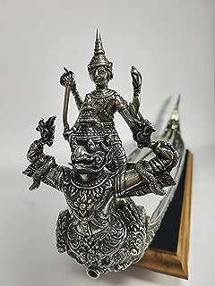 5ive Sis Pewter Thai Royal Barge Tray Narai Song suban Decorative Vintage Serving Metal Ware (Pewter)
