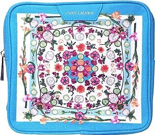 Estee Lauder Purse Cosmetic Makeup Pouch Travel Tolietry Kit Bag~blue Floral
