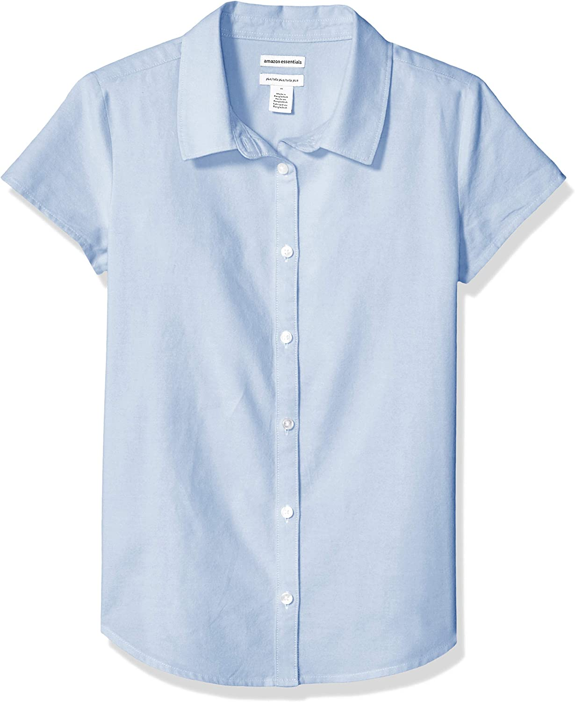 Essentials Girls Short Sleeve Uniform Oxford Shirt