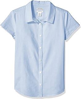 Amazon Essentials Girls' Short Sleeve Uniform Oxford Niñas