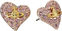Tiny Diamante Heart Studs