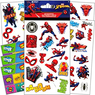 Spider-Man Stickers for Kids - 4 Sheets of Stickers Bundle Includes 3 Specialty Separately Licensed GWW Reward Stickers