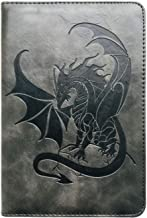 Black Dragon Journal by SohoSpark, Writing Journal, Personal Diary, Lined Journal, Travel, 6x8.75 Notebook, Writers Notebook, Faux Leather, Refillable, Fountain Pen Safe, Lay Flat Binding