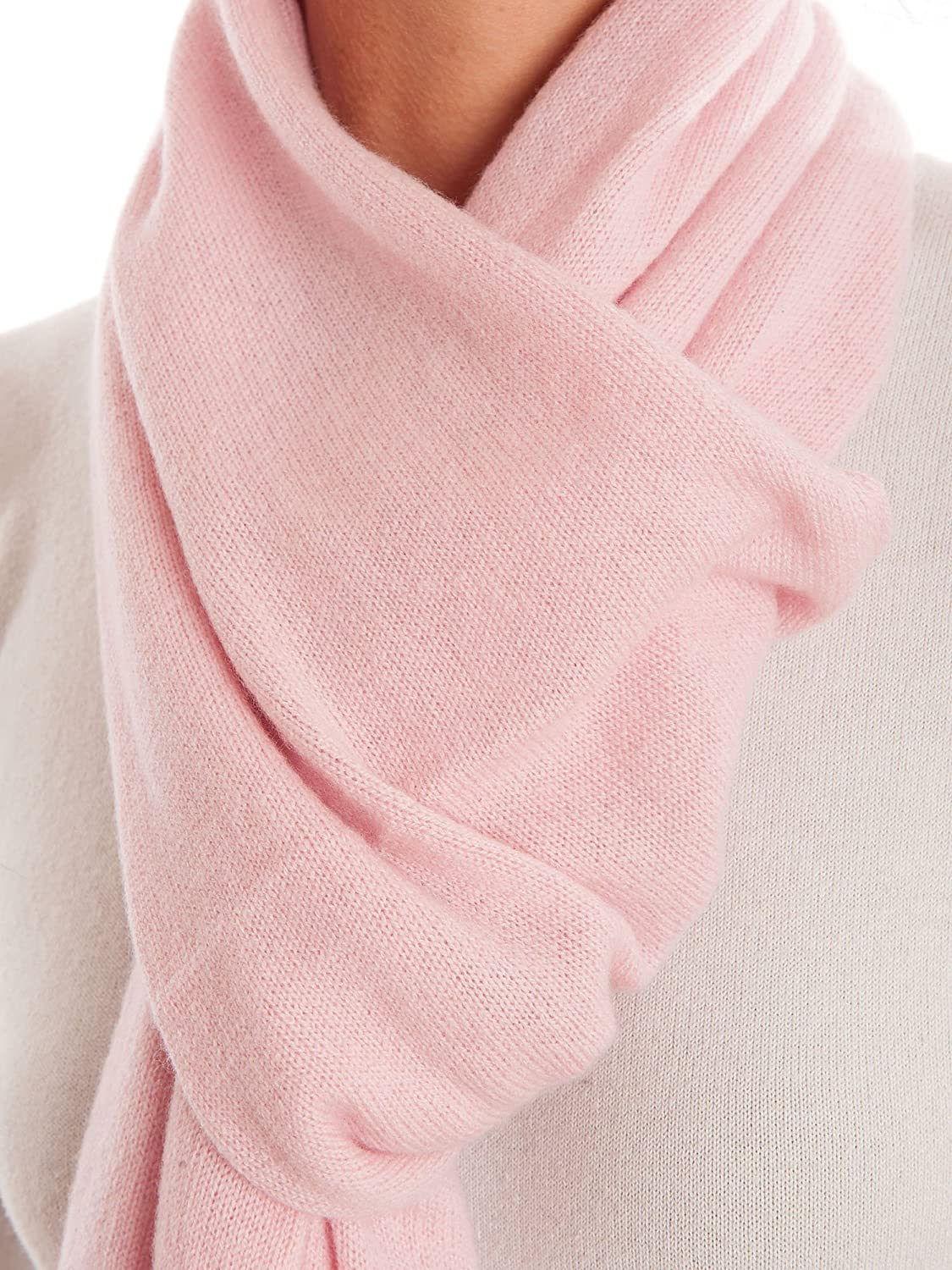 Dalle Piane Cashmere - Scarf 100% cashmere - Made in Italy - Woman/Man, Color: Pink, One size