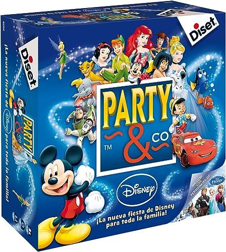 Diset- Party & Co Disney - Juego de mesa familiar multiprueba a partir de 4 años