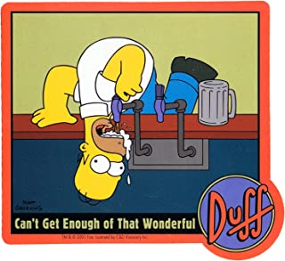 STICKER - The Simpsons Duff Cant Get Enough Of That Beer Homer Decal SB12