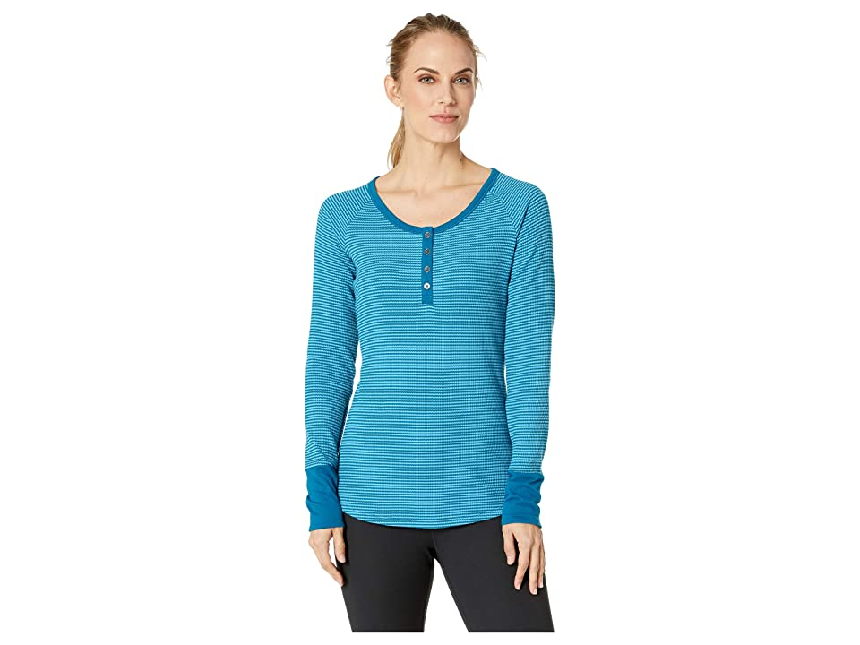 Columbia Along The Gorge Thermal Henley (Lagoon/Beta) Women