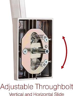 Kwikset 98180-020 San Clemente Single Cylinder Low Profile Front Lock Handleset with Halifax Door Handle Lever Featuring Smar