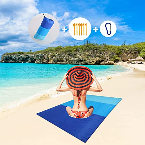wholesale Beach Blanket, BENBOR new arrival 79''×83'' Portable Beach Mat Outdoor Picnic outlet sale Blanket for 4-7 Adults, Waterproof Sandproof and Quick Drying Oversized Lightweight Beach Mat for Travel, Camping, Hiking (Navy Blue) sale