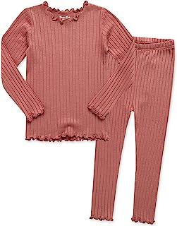 VAENAIT BABY 12M-7T Kids Unisex Girls & Boys Soft Comfy Modal Tencel Shirring Sleepwear Pajamas 2pcs Set