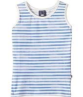 Toobydoo - Watercolor Blue Stripe Tank Top (Toddler/Little Kids/Big Kids)