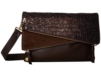 Hammitt Dillon Medium (Doppio Nilo/Doppio/Doppio Suede/Black/Brushed Gold) Handbags