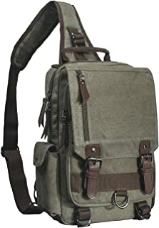 Mygreen Canvas Cross Body Messenger Bag Shoulder Sling Backpack Travel Rucksack
