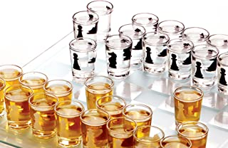 Palais Glassware Salle d'amusement - Room of Fun Shot Glass Collection (Chess Game With 32-1 Oz Shot Glasses)