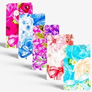 """Tiny Love Cards - Set of 85 Cute BLANK Mini Cards for Hand-Written notes - ANY Occasion - 2"""" x 3.5"""", Small Note Cards (Flowers: 5 Designs Variety Set)"""
