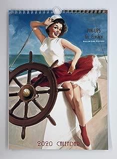 Gil Elvgren Seagirl Edition Wall Calendar 2020 Pin Up Glam Sexy Girl Retro Vintage A4