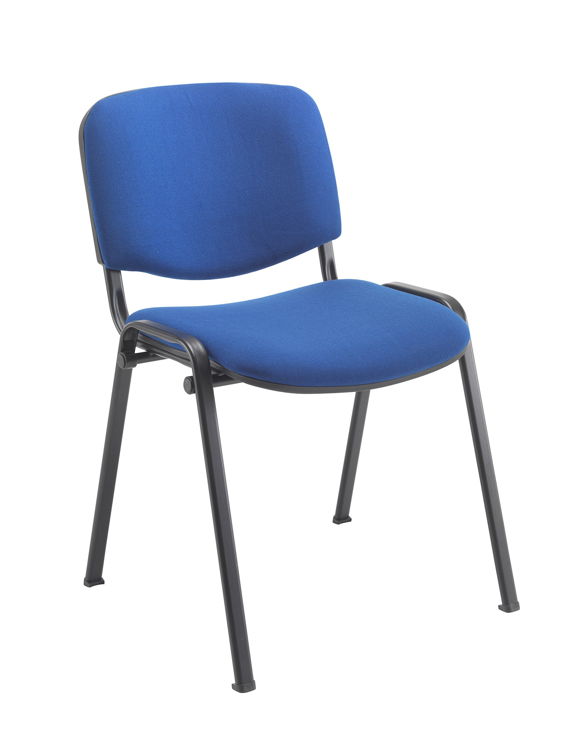 Office Hippo Heavy Duty Stackable Reception Chair, Black Frame, Fabric,  Royal Blue