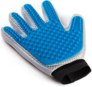 Pet Grooming Glove - Enhanced Five Finger Design - for...