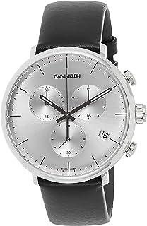 Calvin Klein Men's Quartz Watch, Analog Display and Leather Strap K8M271C6