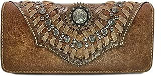 Montana West Tr-Fold Concho Wristlet Wallet